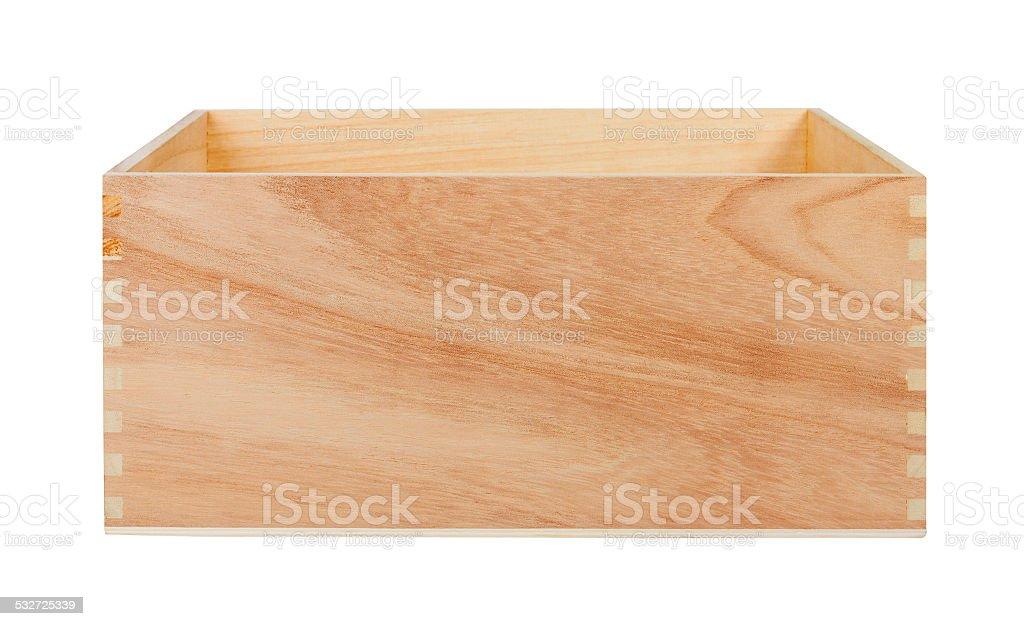 Empty Wood Box stock photo