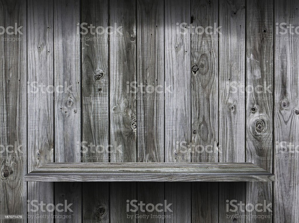 empty wood shelf grunge interior background for display object royalty-free stock photo