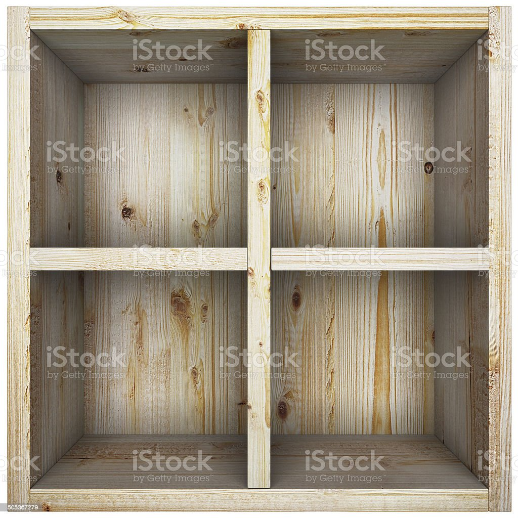 Empty wooden box. royalty-free stock photo
