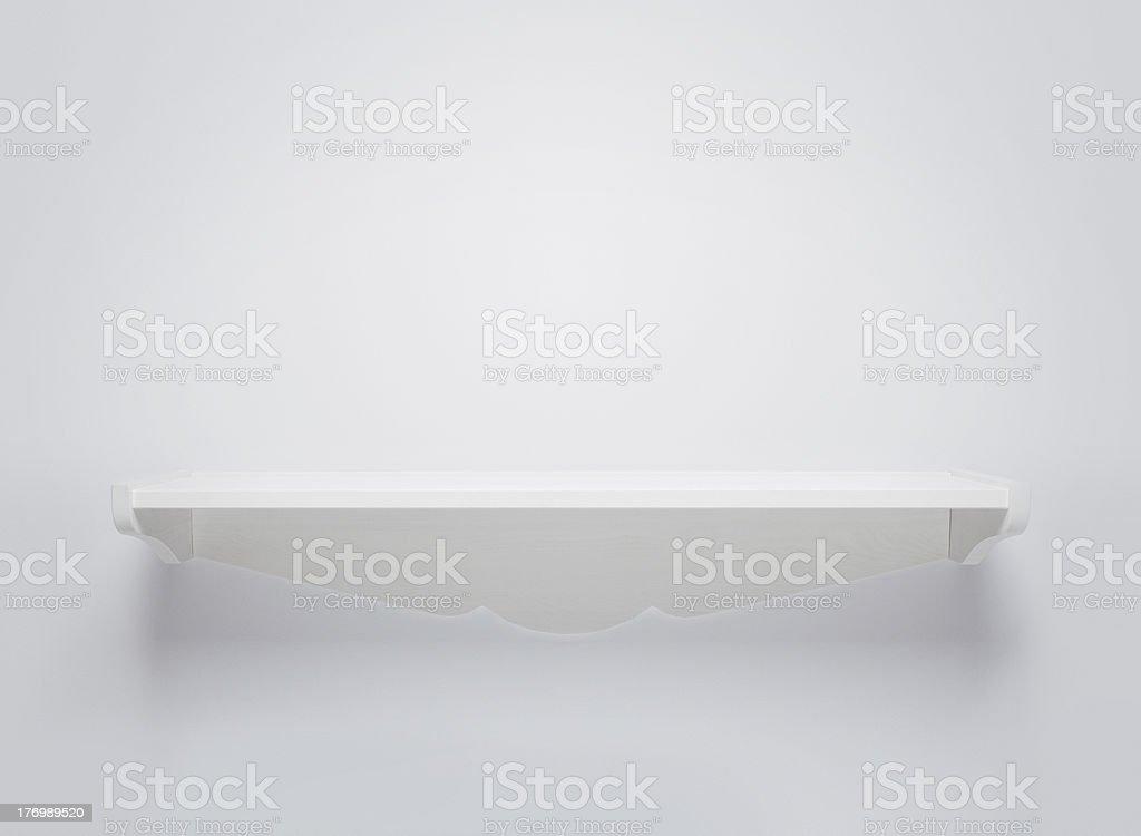 Empty wooden shelf royalty-free stock photo