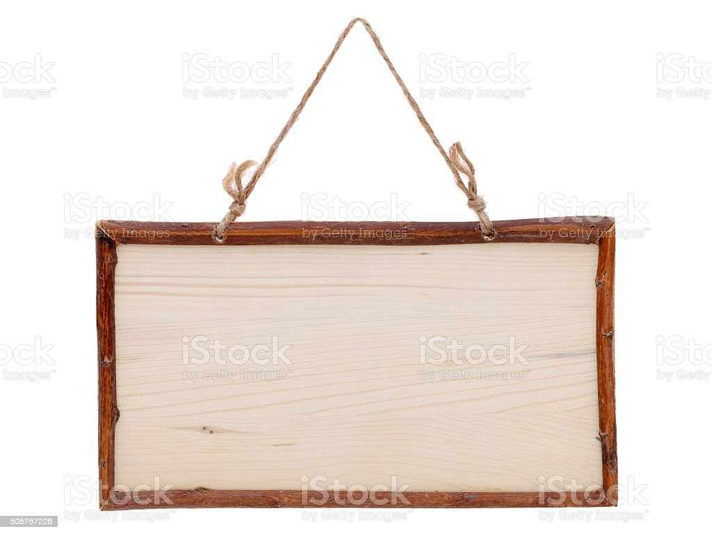 empty wooden sign stock photo