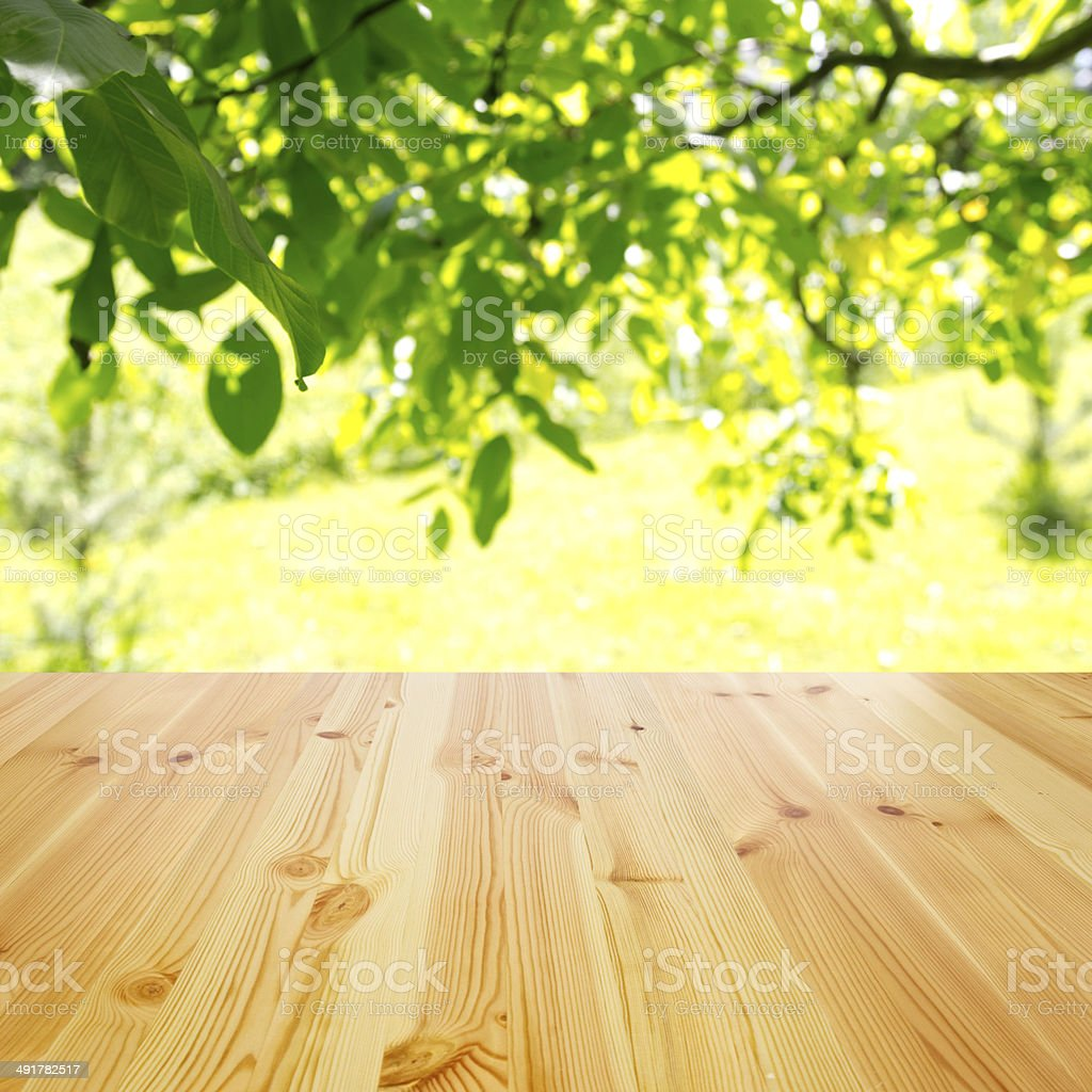 empty wooden table background stock photo