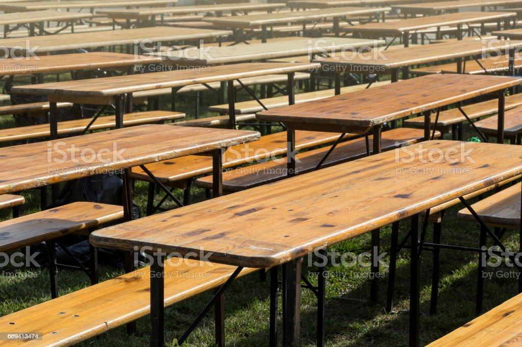 Empty wooden table stock photo