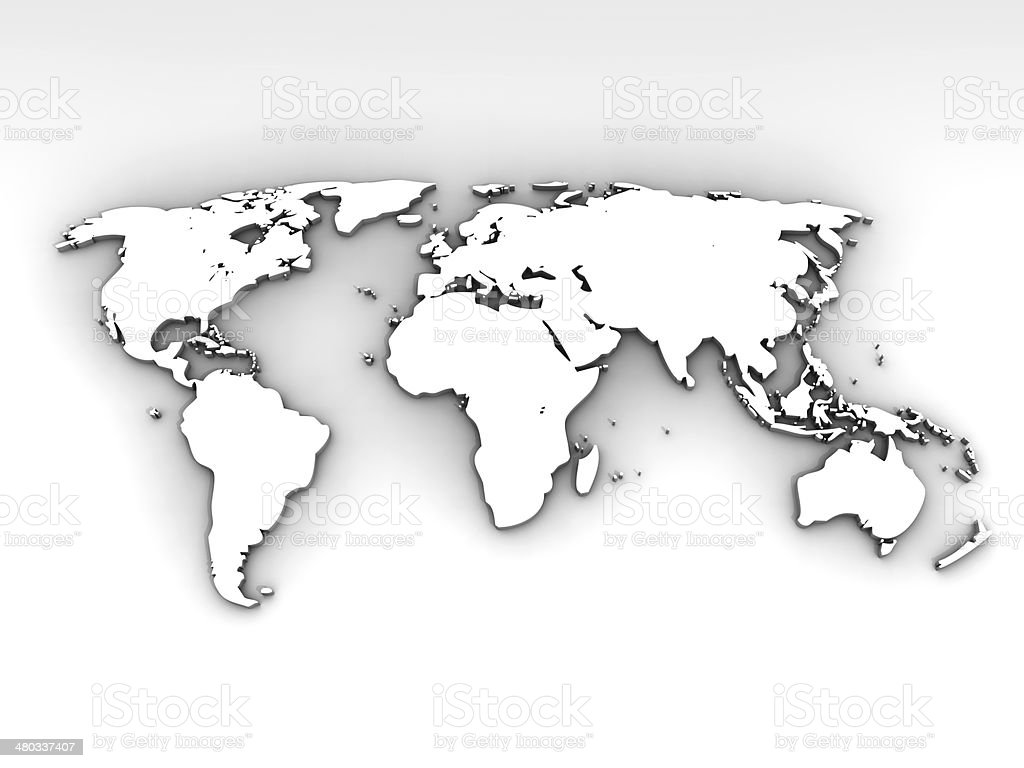 Empty World Map stock photo