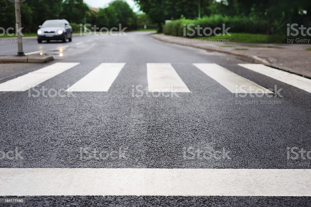 Empty zebra crossing royalty-free stock photo