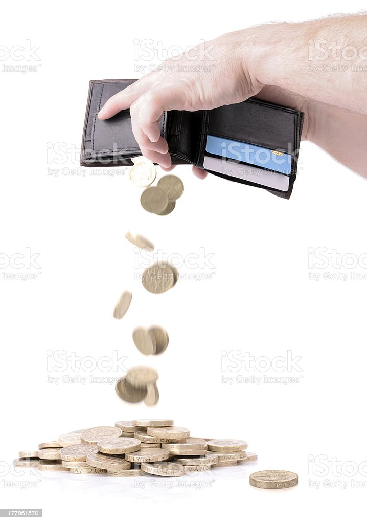 emptying wallet royalty-free stock photo