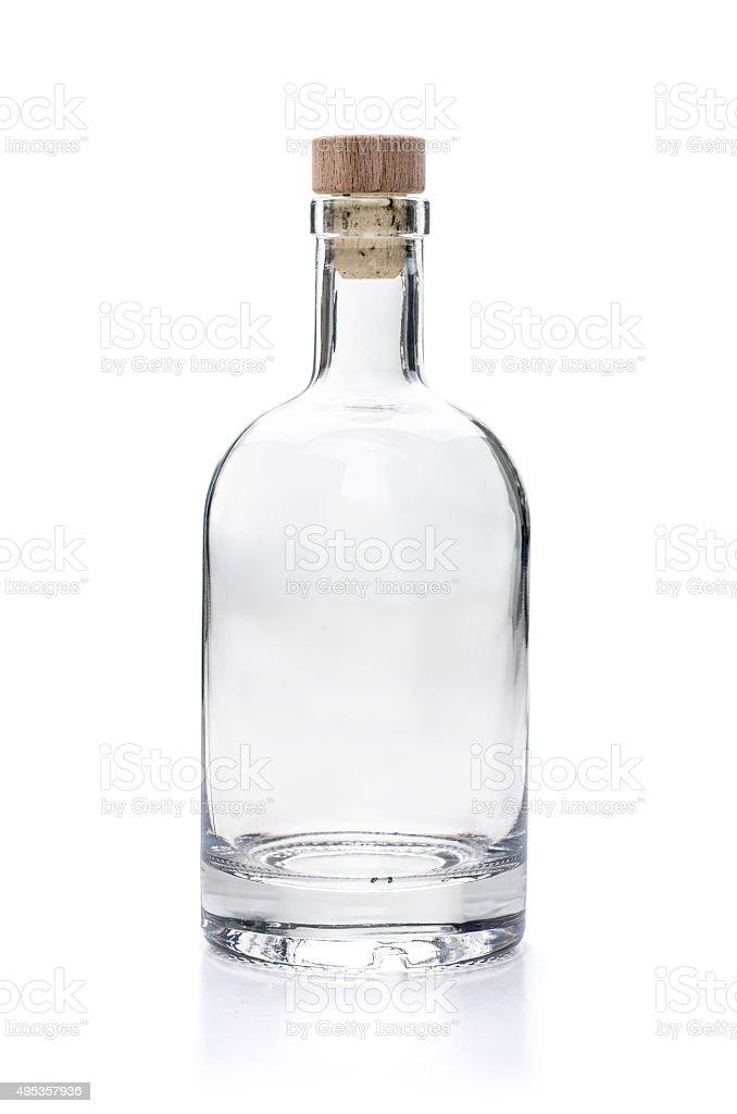 empy liquor bottle on a white background stock photo