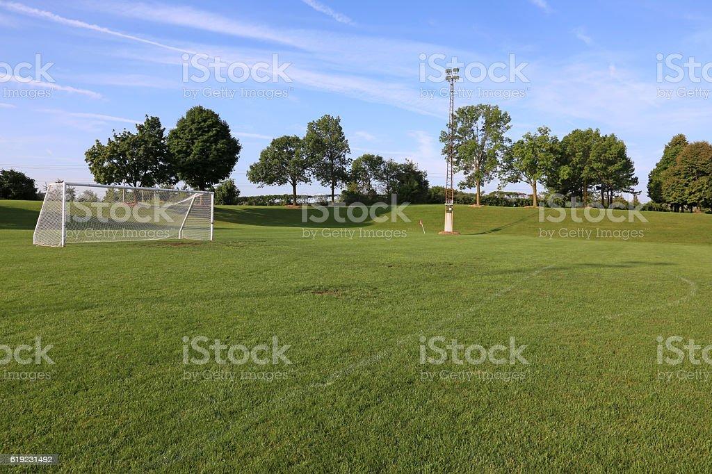 Empy Soccer Pitch stock photo