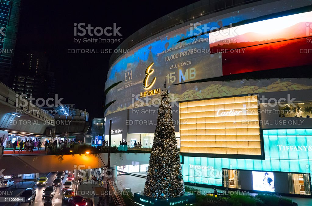 Emquartier Bangkok Luxury shopping stock photo