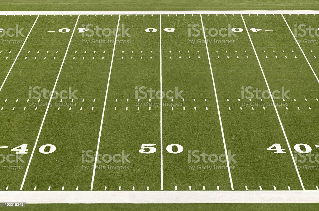Emtpy American Football Field royalty-free stock photo