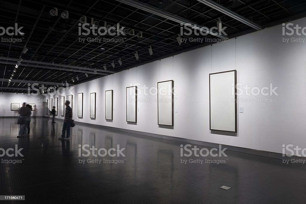 emtpy form in museum royalty-free stock photo