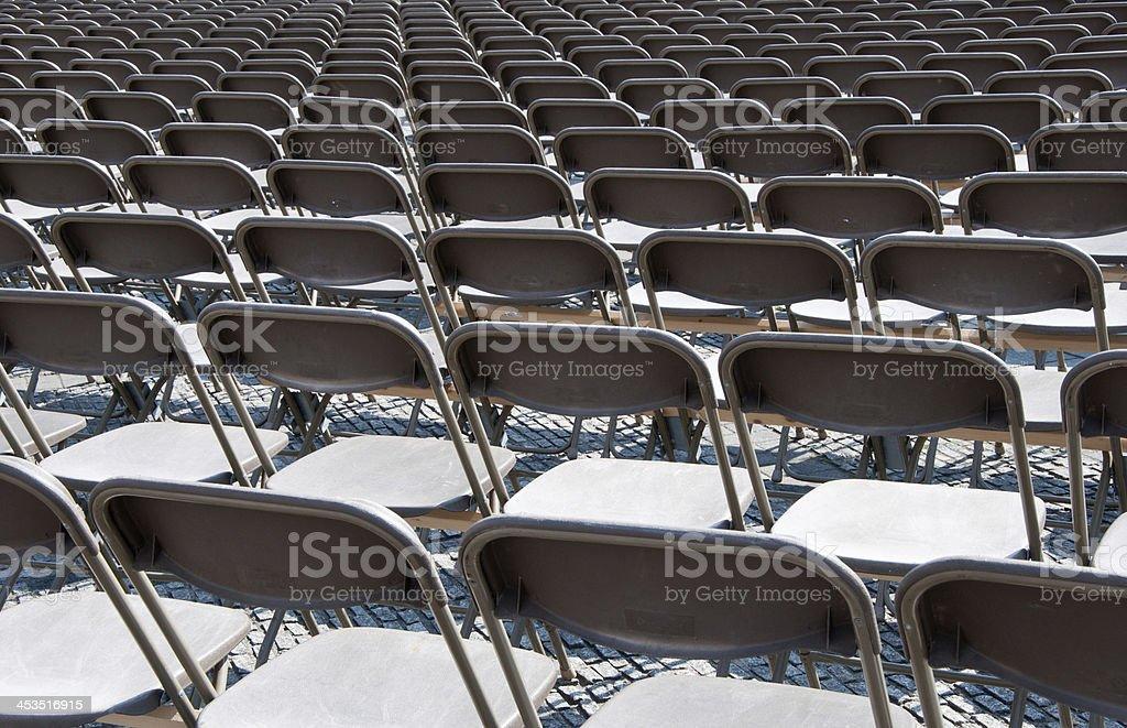 Emty seats stock photo