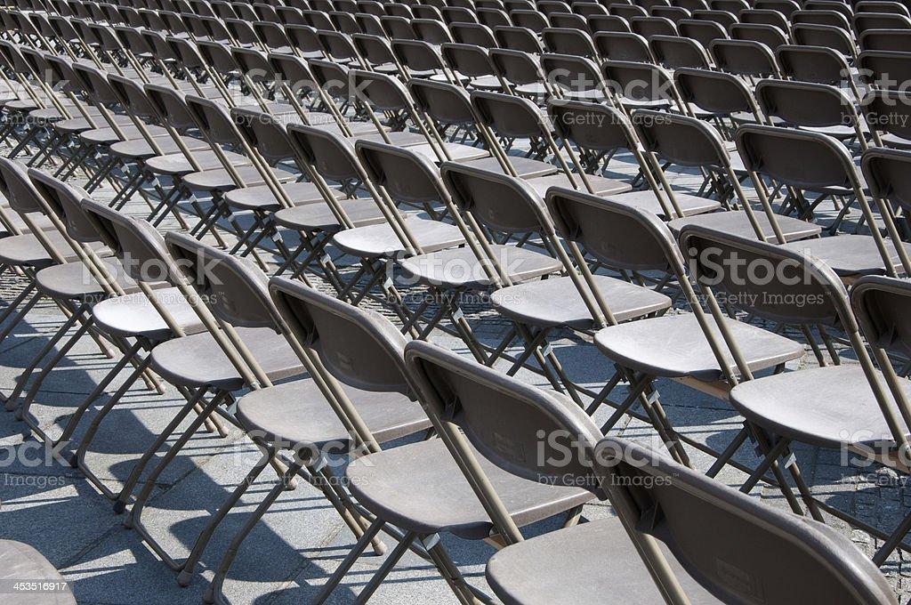 Emty seats-outdoor stock photo