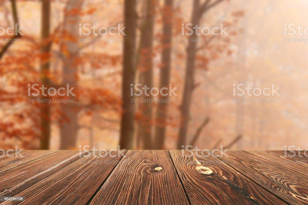 Emty table stock photo