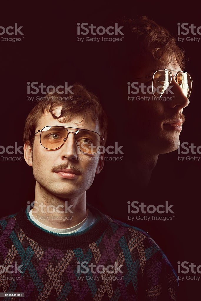 Emulated Vintage Portrait Photograph stock photo