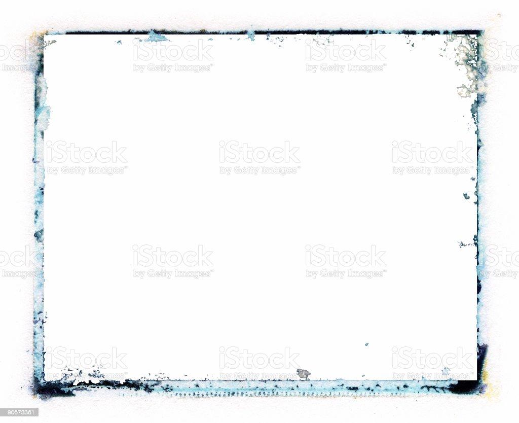 Emulsion transfer Border royalty-free stock photo