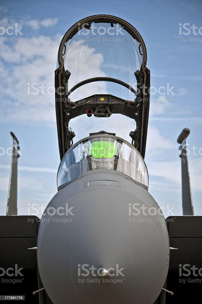 F-15 en face royalty-free stock photo