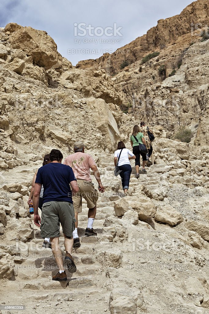 En Gedi Nature Reserve in Israel stock photo