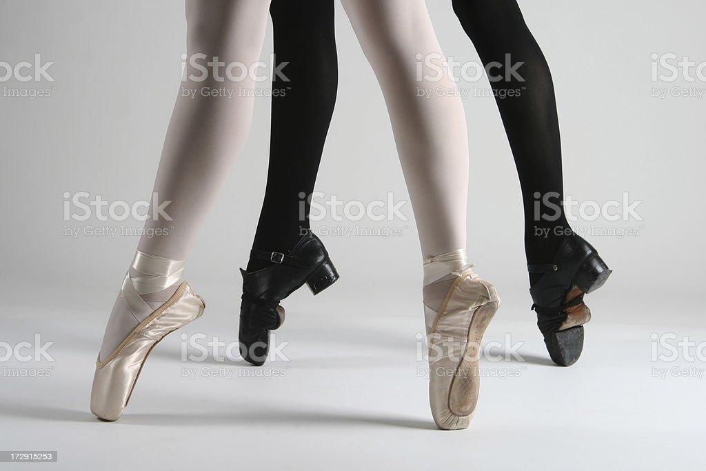En Pointe: Ballet and Irish Dancer stock photo