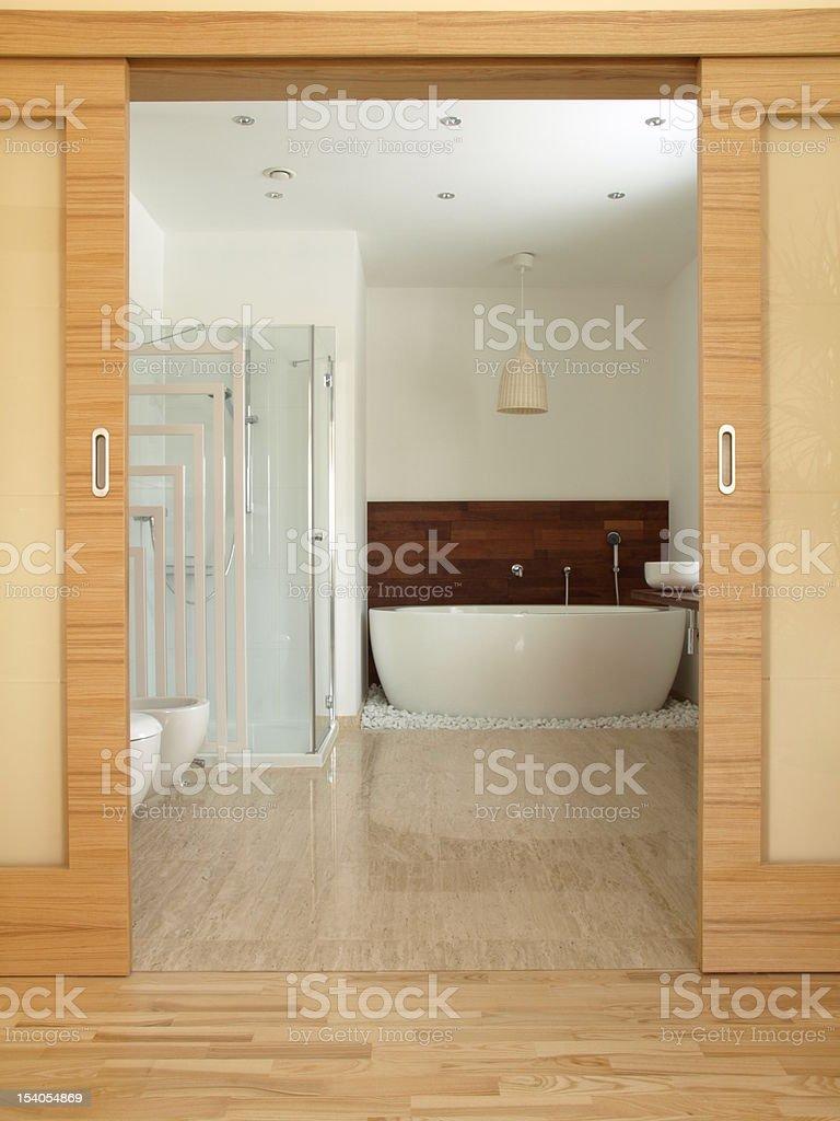 En suite bathroom royalty-free stock photo