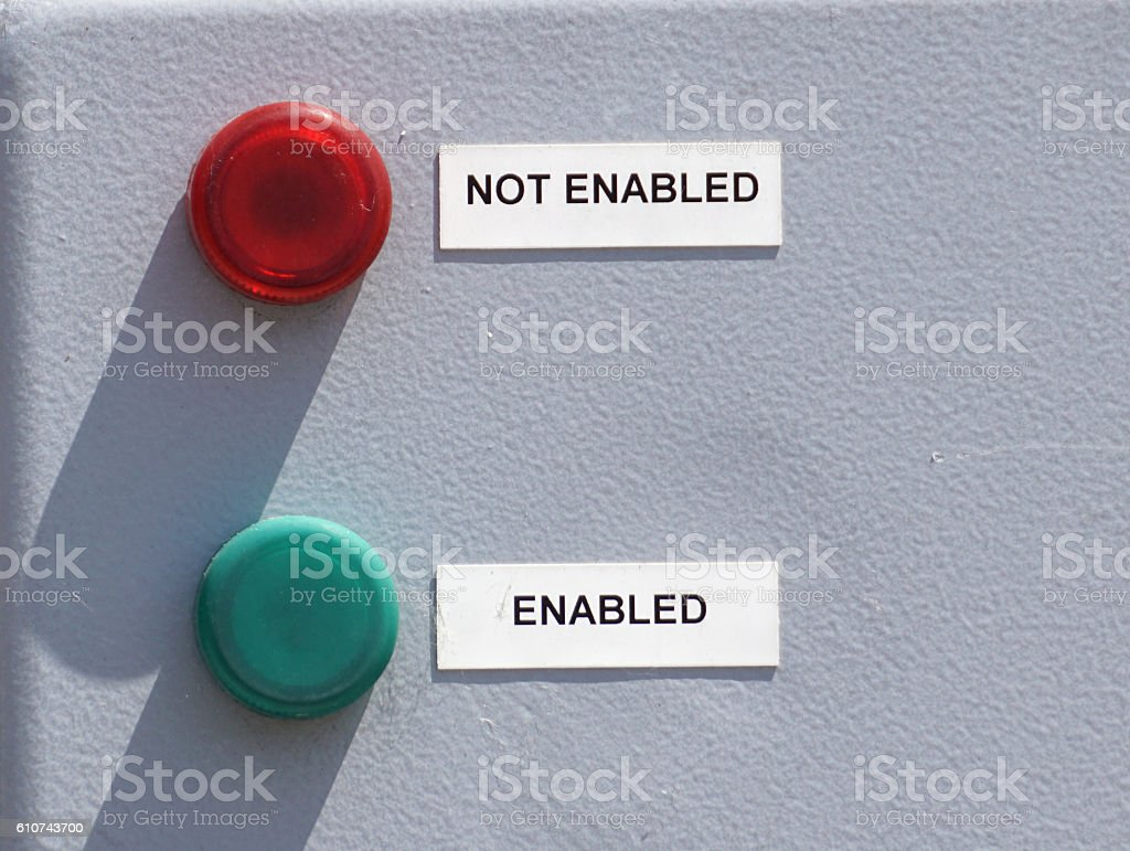 enabled button stock photo