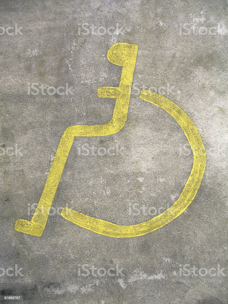 Enabled - Disabled car parking stock photo