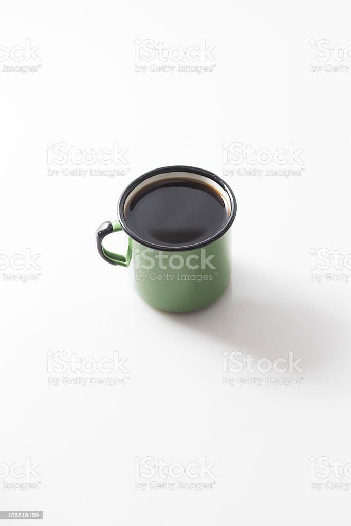 enamel coffee cup royalty-free stock photo