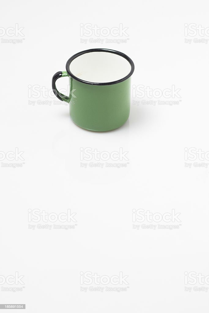 enamel cup royalty-free stock photo