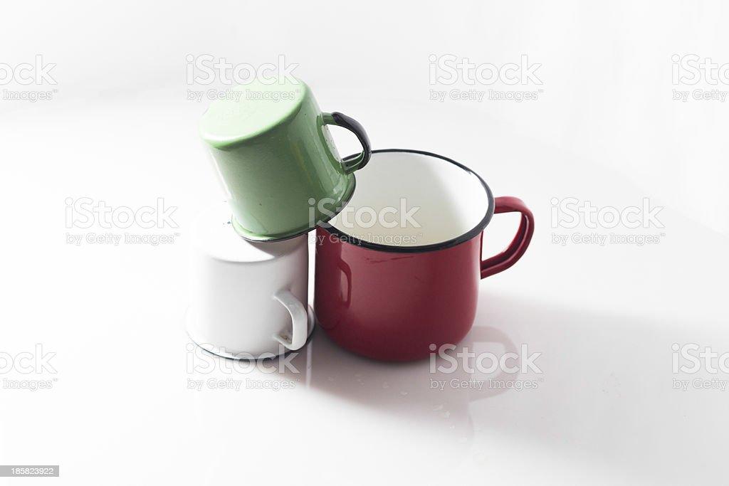 enamel cups royalty-free stock photo