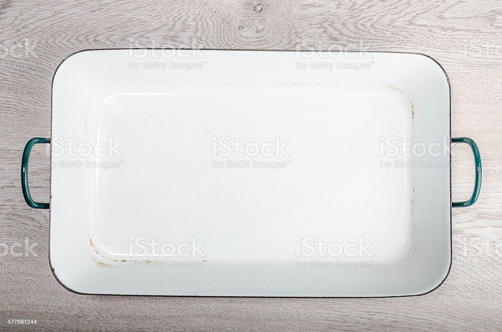 Enamelled kitchenware stock photo