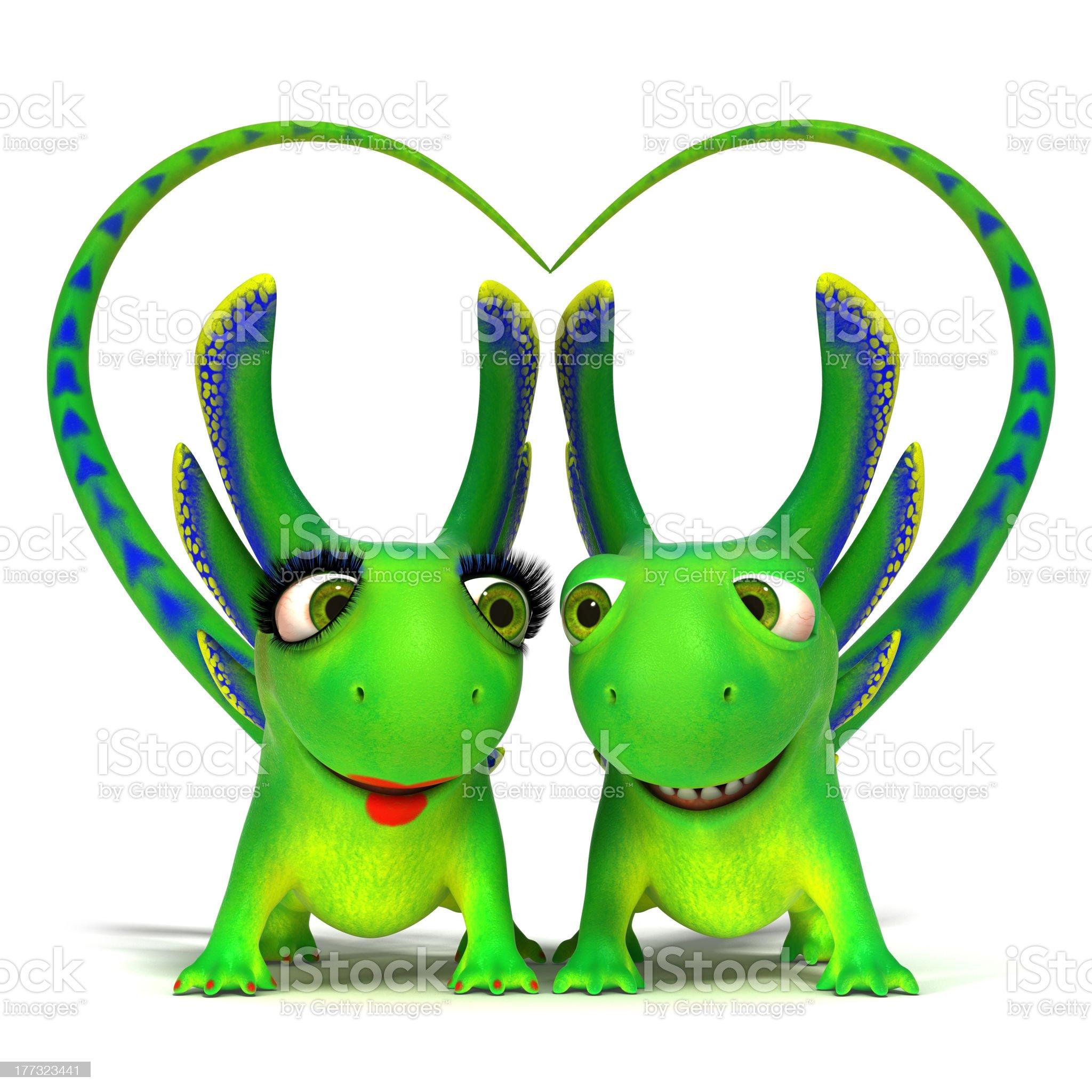 Enamoured lizards royalty-free stock photo