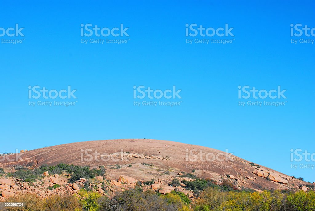 enchanted rock formation stock photo
