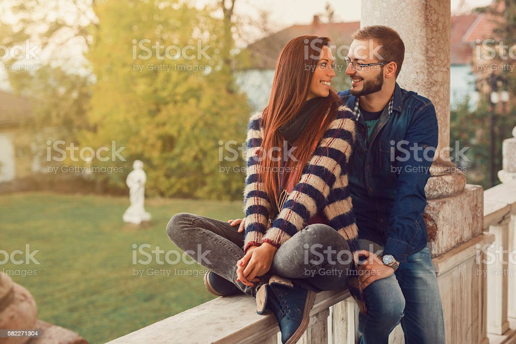 Enchanted with love stock photo