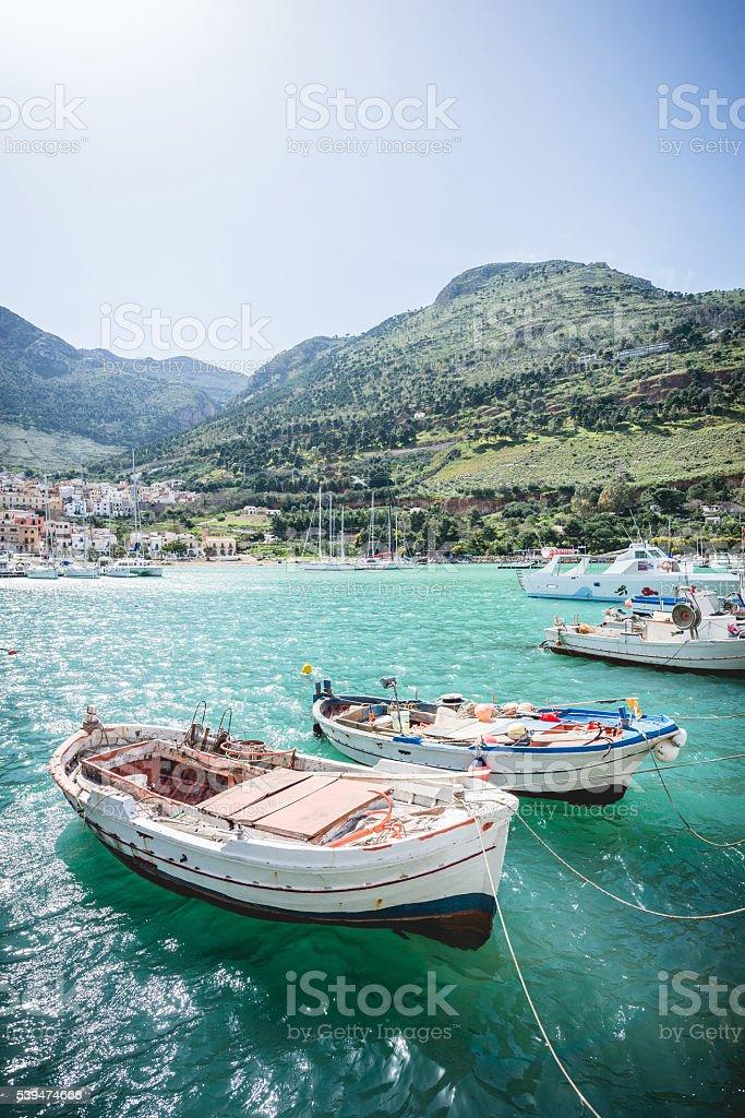 Enchanting fisching port stock photo
