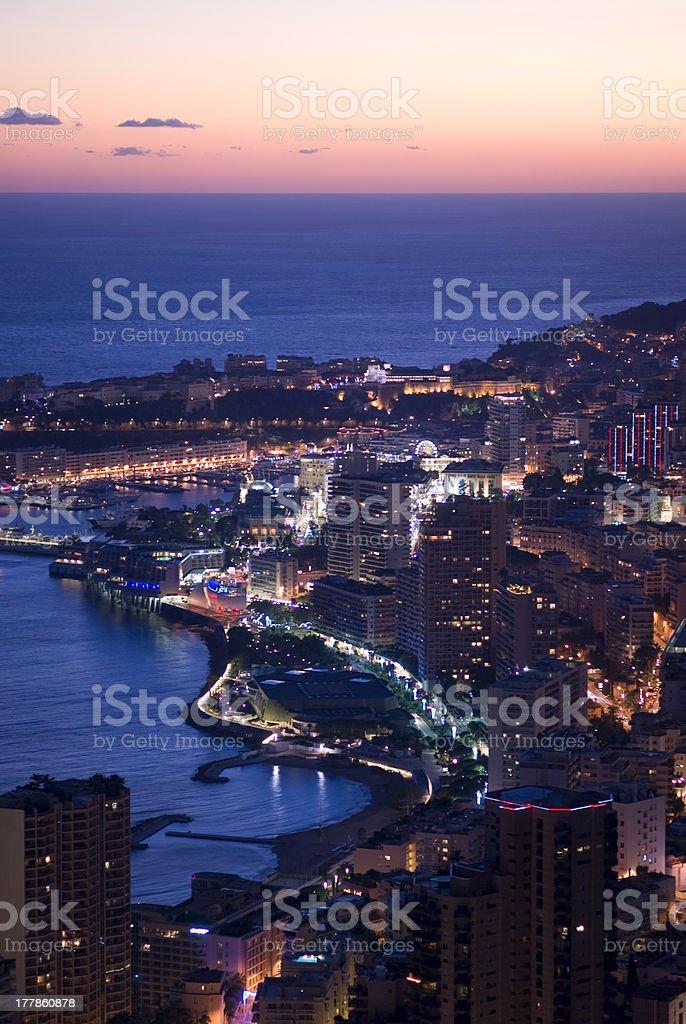 Enchanting Monegasque dusk royalty-free stock photo