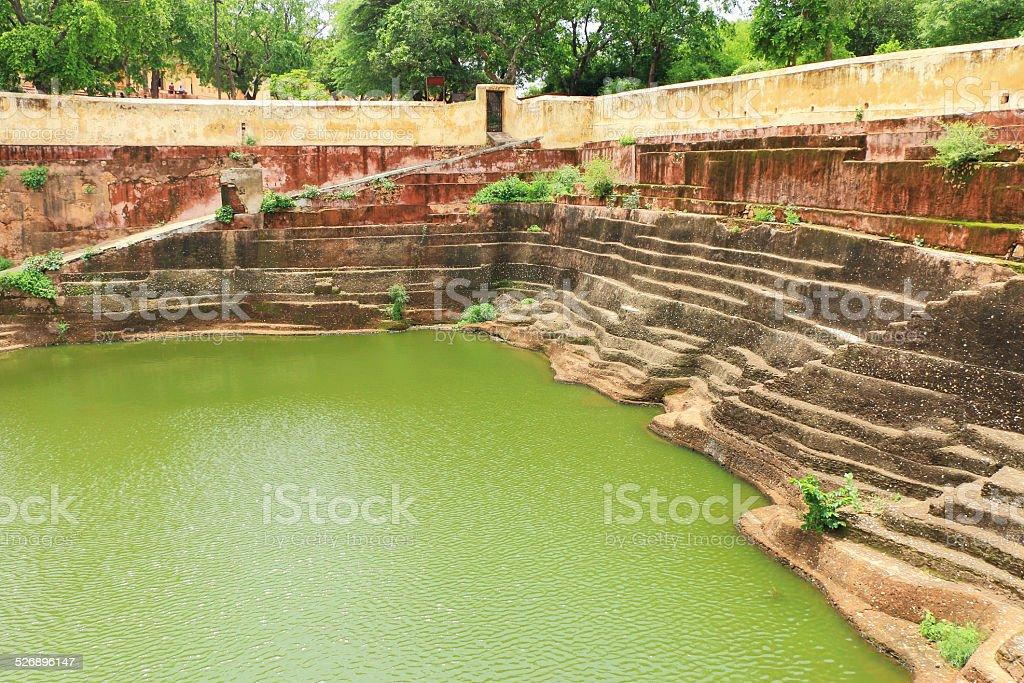 enchanting Nahargarh fort jaipur rajasthan india stock photo