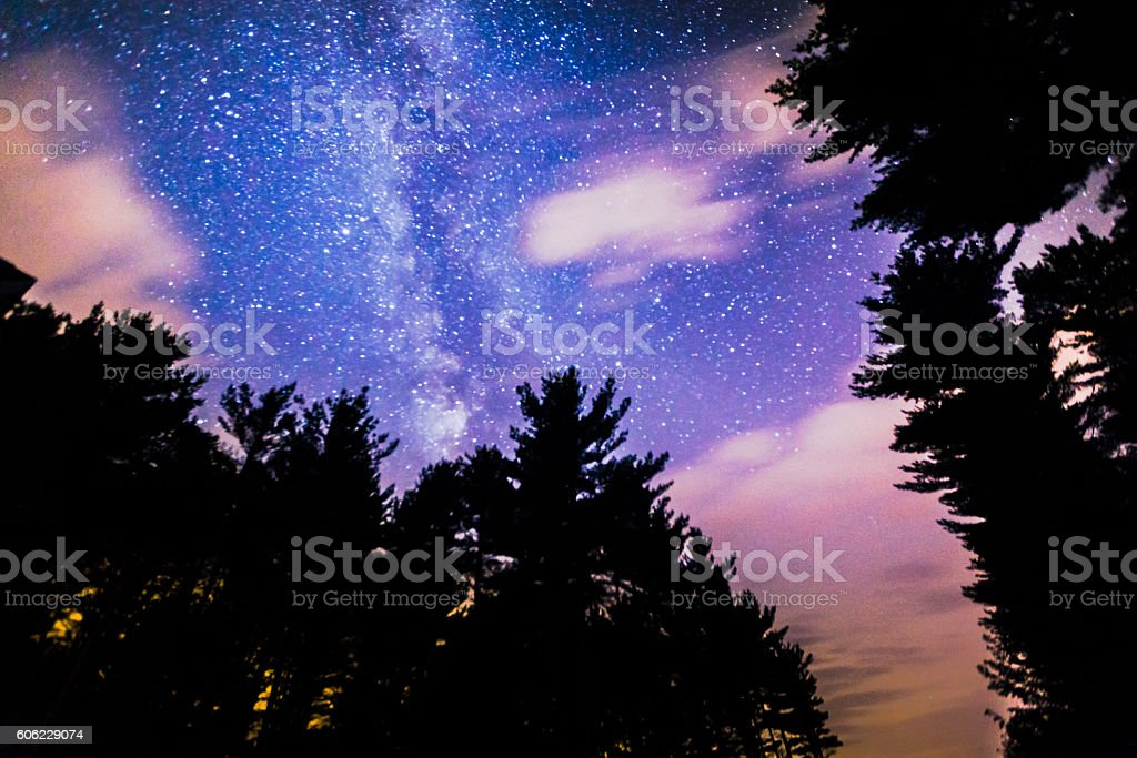 Enchanting Starry Skies stock photo