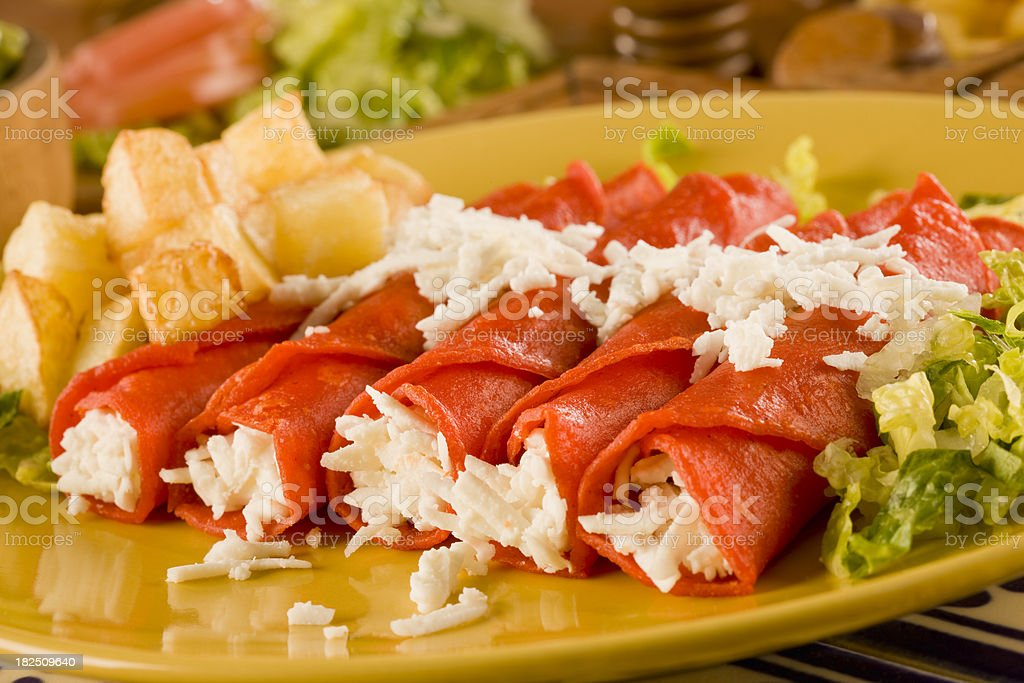Enchilada stock photo