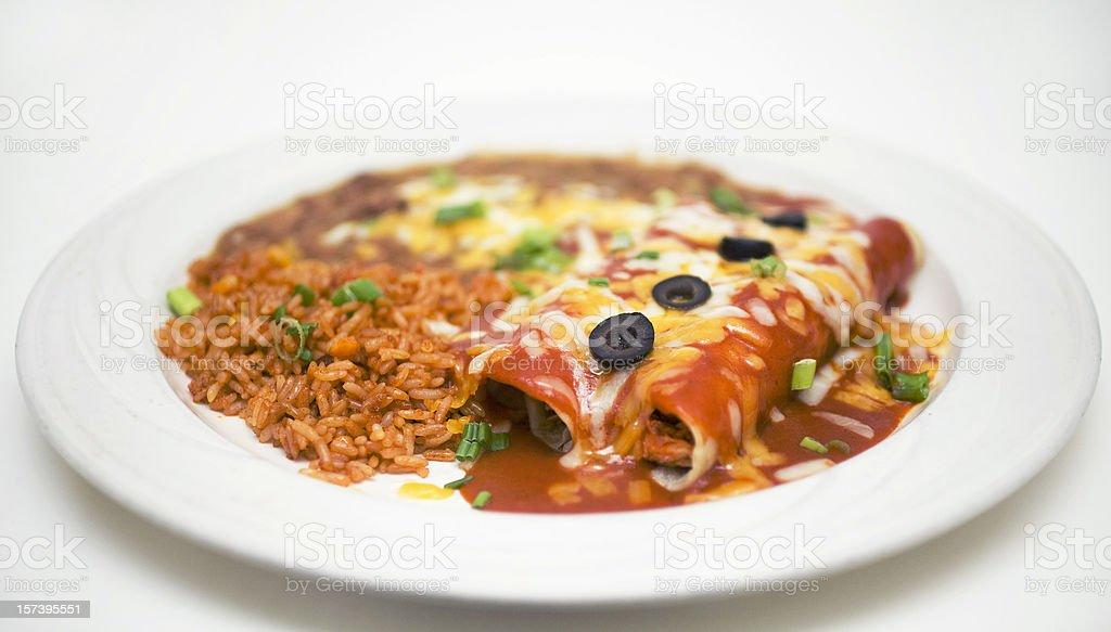 Enchiladas royalty-free stock photo