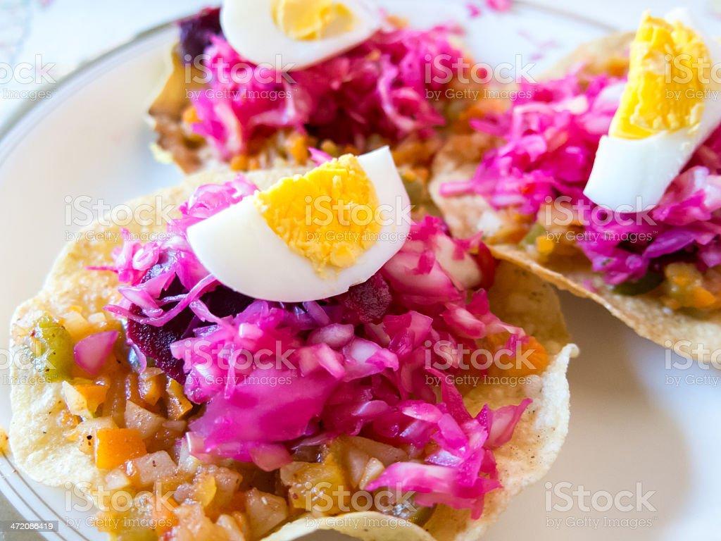 Enchiladas (Guatemalan Tostadas) stock photo