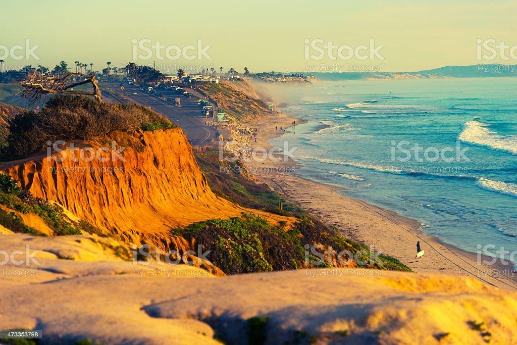 Encinitas Beach in California stock photo