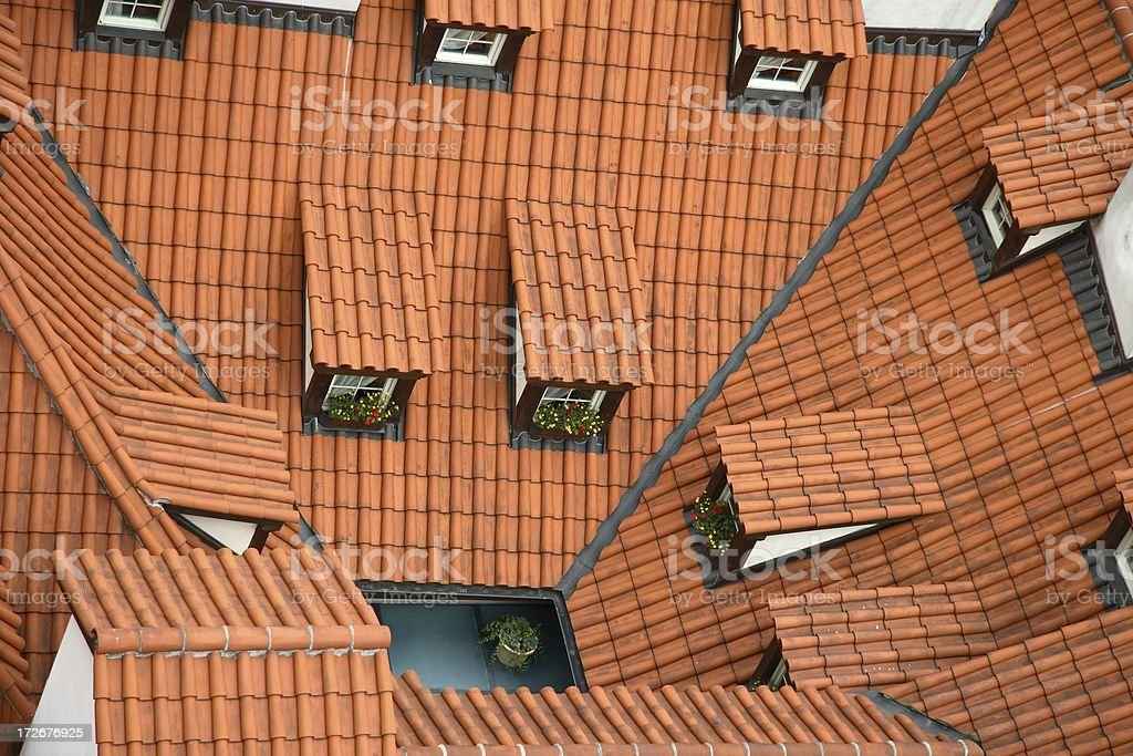 Enclosed courtyard royalty-free stock photo