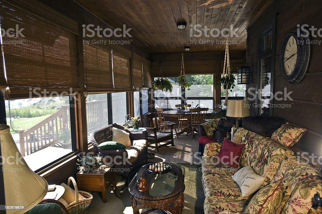 Enclosed Deck stock photo