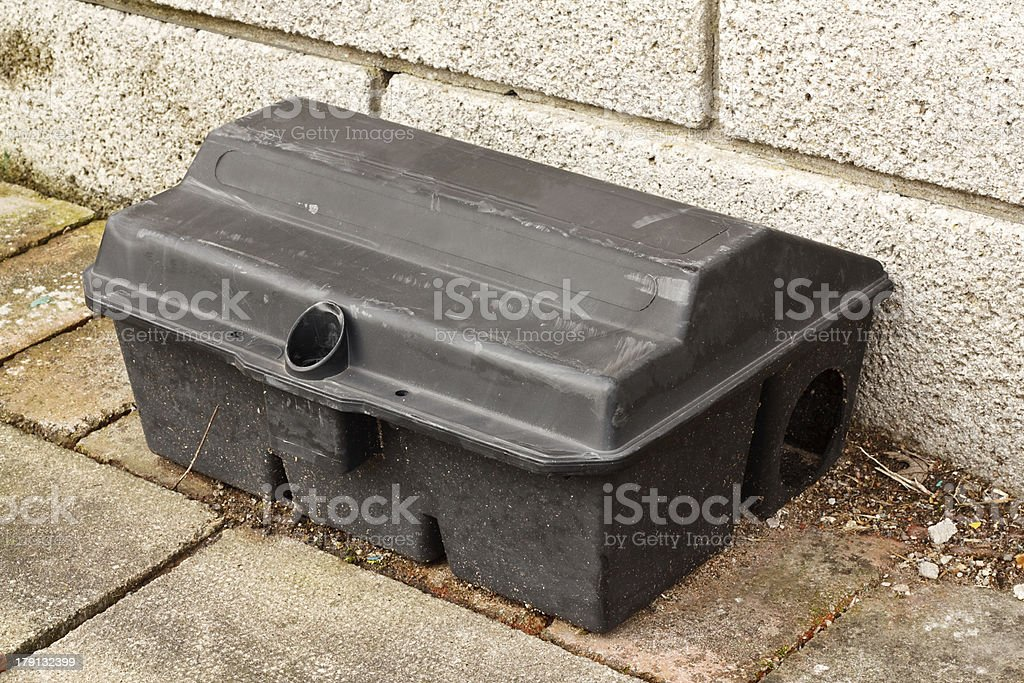 Enclosed Rat trap safety poison stock photo