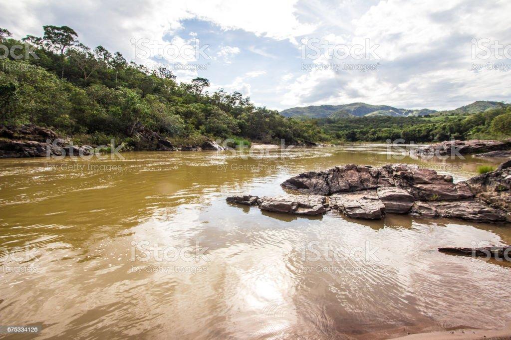 Encontro das Aguas in Chapada dos Veadeiros stock photo