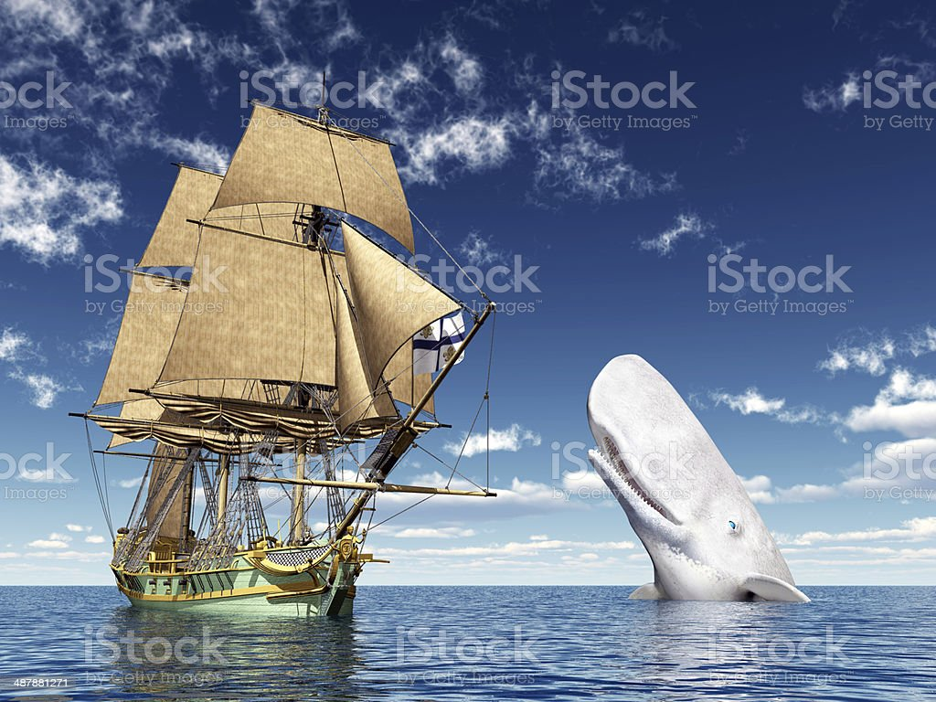 Encounter on the High Seas stock photo