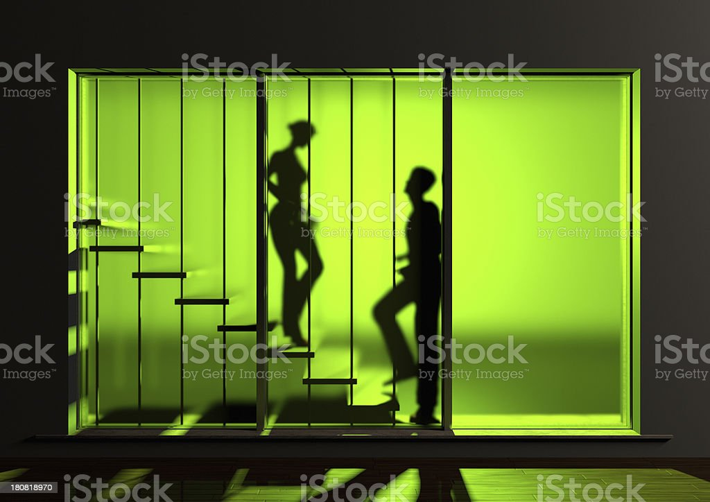 Encounter On The Stairs royalty-free stock photo