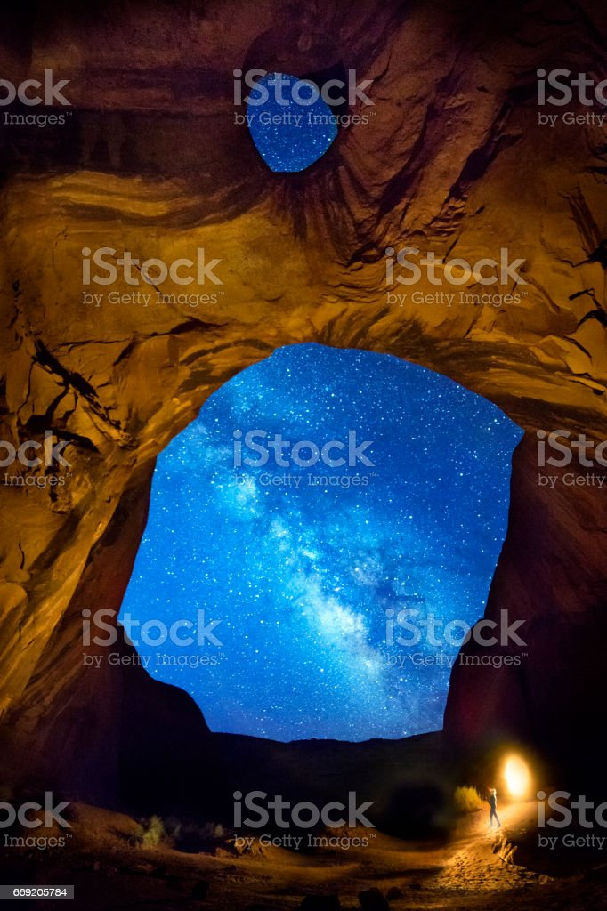 Encounters with space stock photo