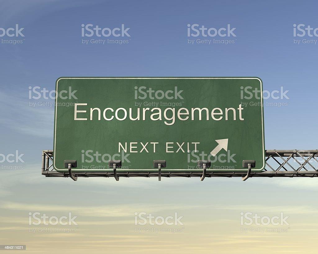 励ますの道路標識 ロイヤリティフリーストックフォト
