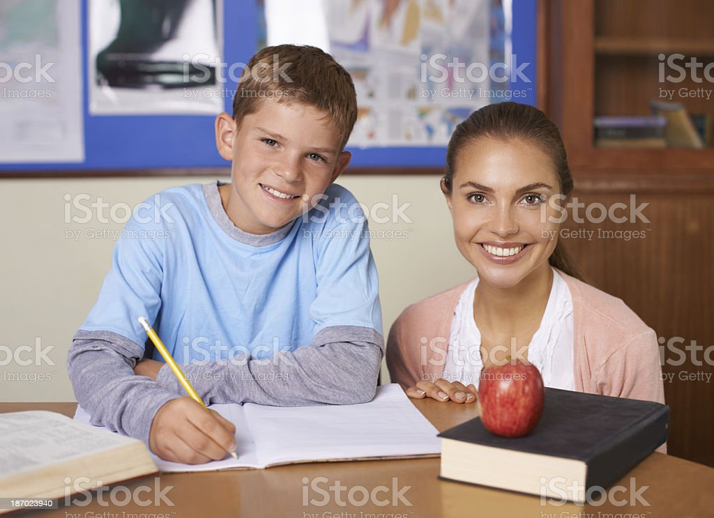 Encouraging a love of learning royalty-free stock photo